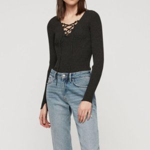 All Saints Tamsin Sweater Charcoal Gray